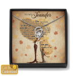 Gift For Mother-In-Law Custom Name Mother's Day Gift Heart Necklace With Box