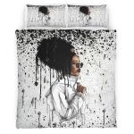Black Women Headwrap Melting Style Bedding Set