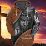 Premium Unique Jesus Zip Hoodie Ultra Soft and Warm LTANT090304DS