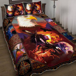 Premium Unique Native American Eagle Quilt Bedding Set Ultra Soft and Warm LTAKV240302DS