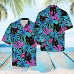 Super Comfy Black Cat Unisex Tropical Hawaiian Shirt LTAKV060308DS