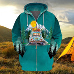 Premium Unique Camping Zip Hoodie Ultra Soft and Warm LTANT270311DS