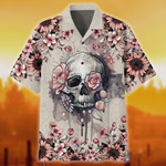 Premium Unique Skull Flower Hawaii Shirts TVN210707   Monlovi