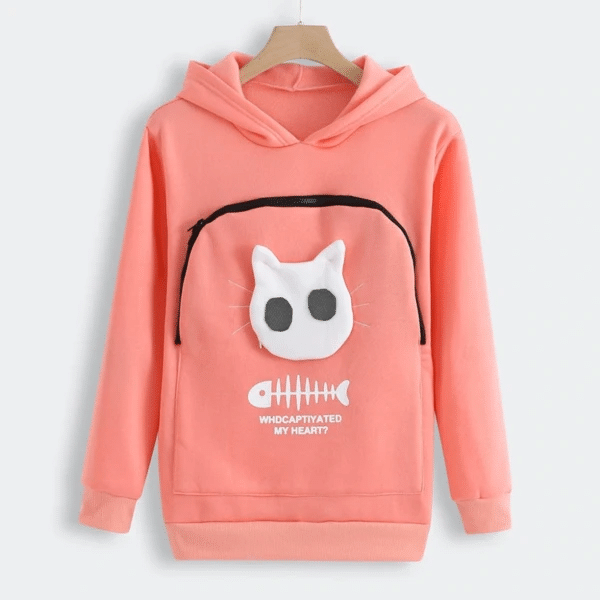 Fluffsy Cat And Dog Pouch Hoodie (Unisex)