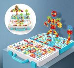 Creative Mosaic Puzzle Toy With Electric Drill Screw Tool Set