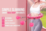 Rated Smart Hula Hoop - Workout Weighted Hula Hoop
