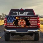 Firefighter American Truck Tailgate Decal Sticker Wrap