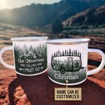 Personalized Camping The Mountains Are Calling Customized Campfire Mug