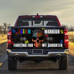 Autism Awareness Warrior For Daughter Truck Tailgate Decal Sticker Wrap