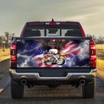 American Eagle Motorcycle Truck Tailgate Decal Sticker Wrap