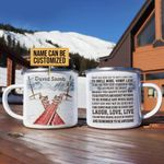 Personalized Skiing Today Is A Good Day Customized Campfire Mug