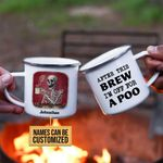 Personalized Skeleton After This Brew Customized Campfire Mug