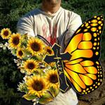 Butterfly Faith Metal Sign