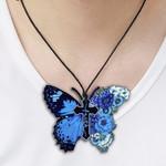 Butterfly Faith Handmade Metal Necklace, Ornament, Home Decor