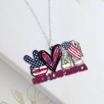 Peace Love America Necklace