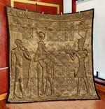 Ancient Egyptian Gods Treasure Mythology Culture Quilt