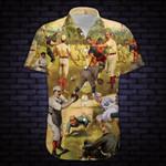 Hit Hard Run Fast Turn Left Vintage Baseball Hawaiian Shirt   For Men & Women   Adult   HW8252