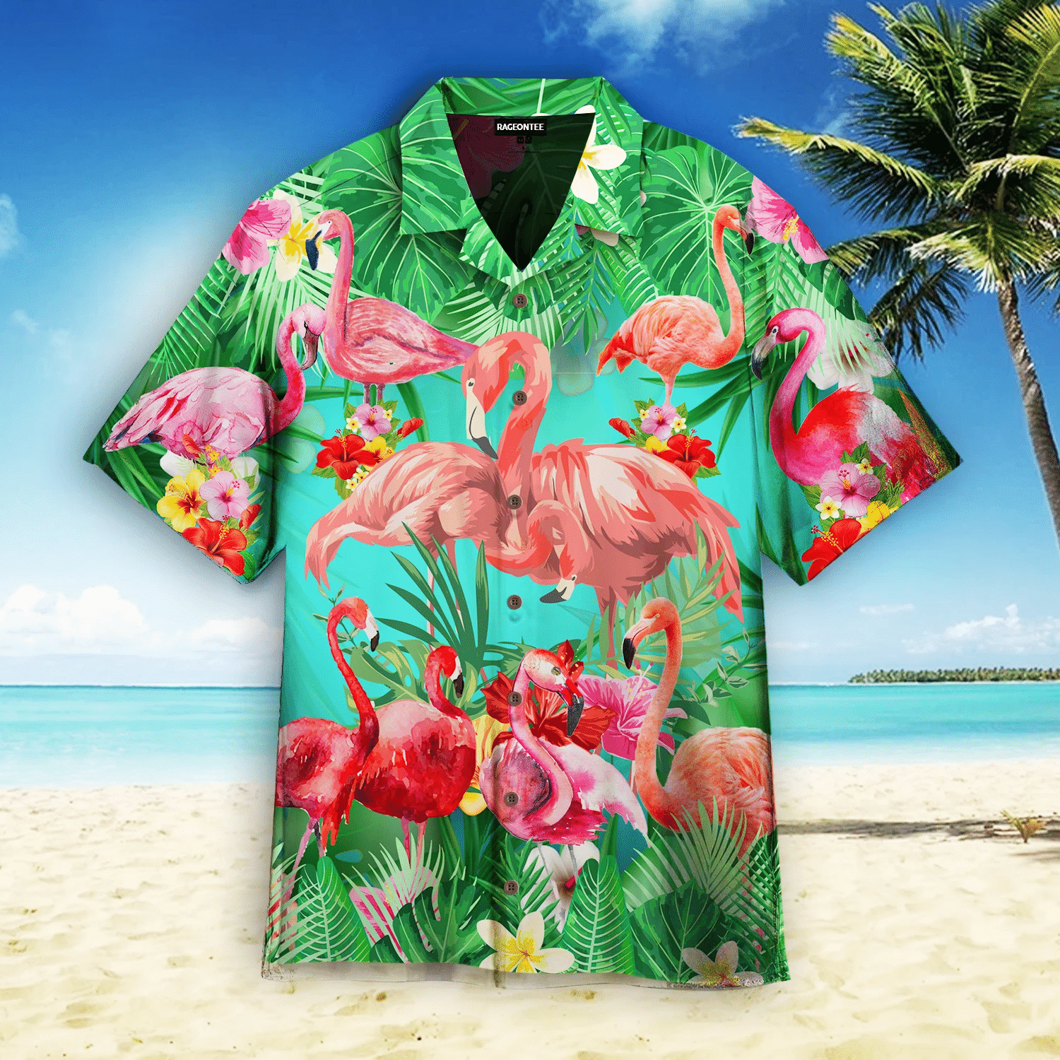 Flamingo Why Fit In When You Were Born To Stand Out Hawaiian Shirt   For Men & Women   Adult   HW4874