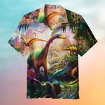 Dinosaur Painting Art Hawaiian Shirt | For Men & Women | Adult | HW6397