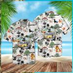Dachshund Beach Retro Hawaiian Shirt   For Men & Women   Adult   HW5459