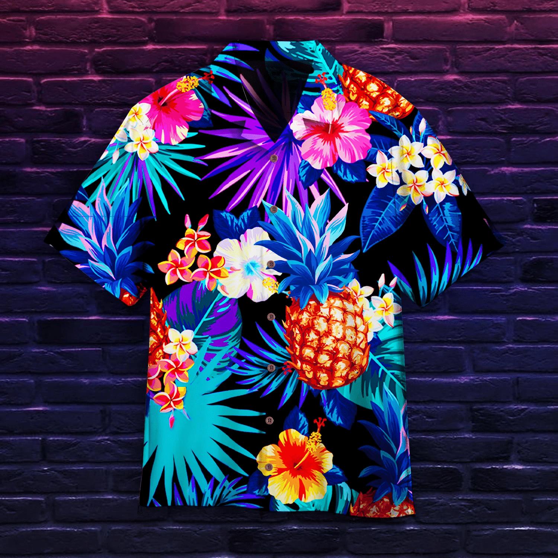 Tropical Neon Hawaiian Shirt | For Men & Women | Adult | HW5084