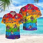 LGBT Proud Hockey Flowers Hawaiian Shirt   For Men & Women   Adult   HW8259