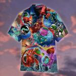 T Rex Dinosaur First Time In Space Hawaiian Shirt | For Men & Women | Adult | WT1139