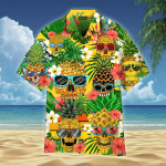 Pineapple Skull Tropical Hawaiian Shirt   For Men & Women   Adult   WT1339