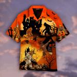 Bigfoots Play In Halloween Night Hawaiian Shirt   For Men & Women   Adult   WT1523