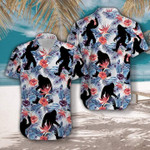 Tropical Flowers Bigfoot Camping Hawaiian Shirt | For Men & Women | Adult | HW3148