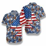 American Eagle Palm Tree Hawaiian Shirt | For Men & Women | Adult | HW7884
