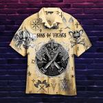 Skull Viking Hawaiian Shirt   For Men & Women   Adult   HW4907