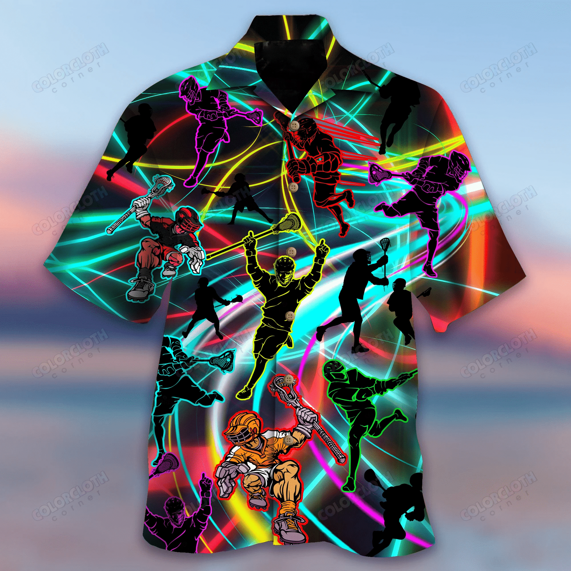Stick Together With Lacrosse Hawaiian Shirt   For Men & Women   Adult   HW5353