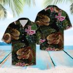 T rex Tropical Hawaiian Shirt   For Men & Women   Adult   HW8000