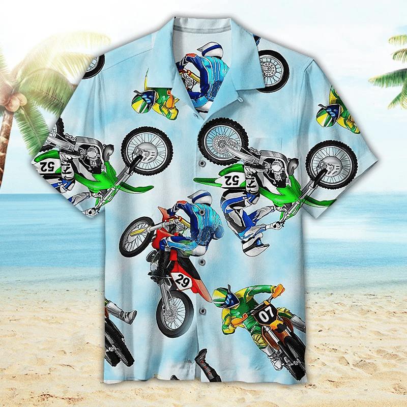 Motocross Hawaiian Shirt | For Men & Women | Adult | HW5467