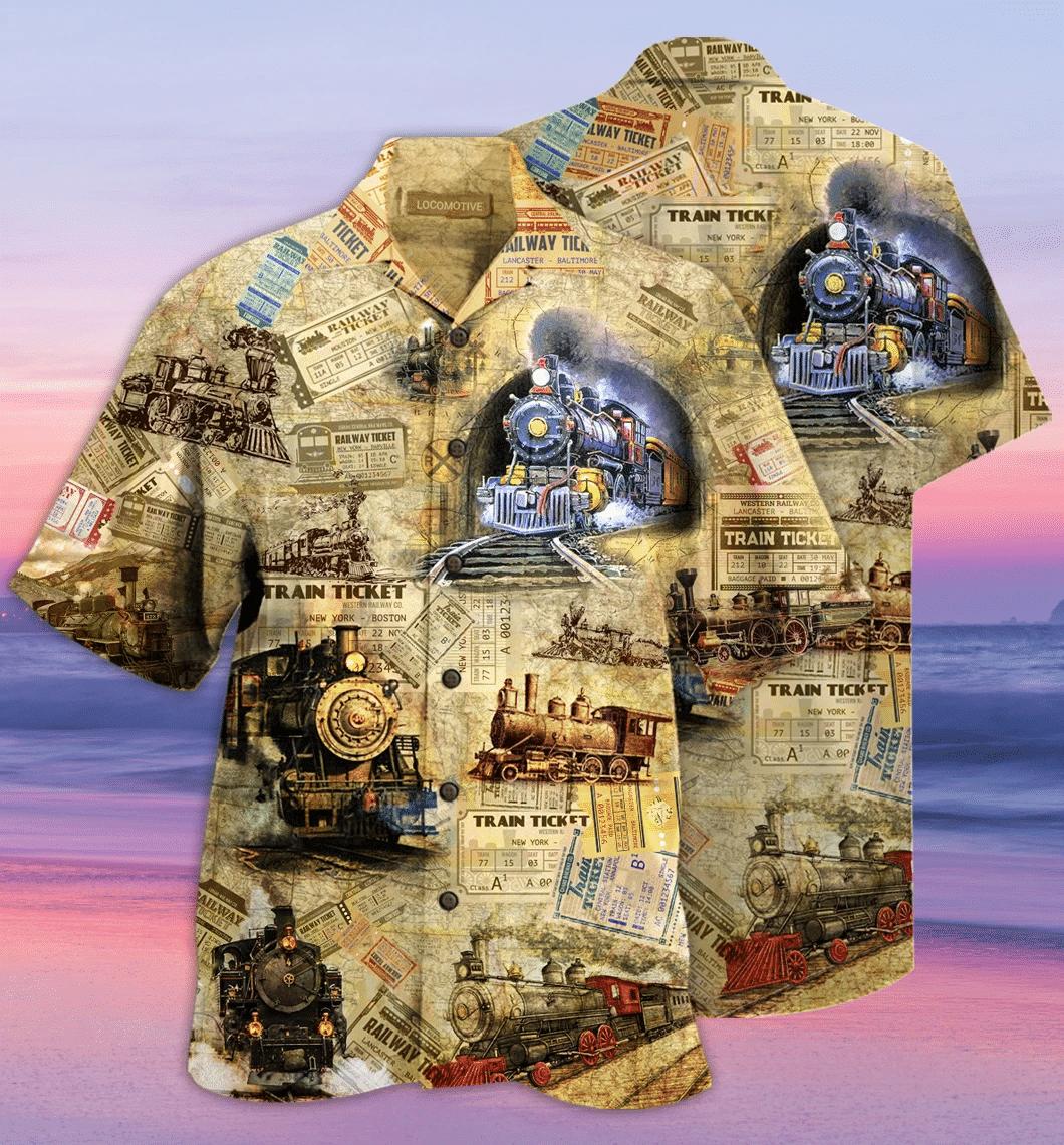 Amazing Train Locomotive Hawaiian Shirt | For Men & Women | Adult | HW1732