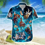Amazing Blue Horse Hawaiian Shirt | For Men & Women | Adult | HW7429