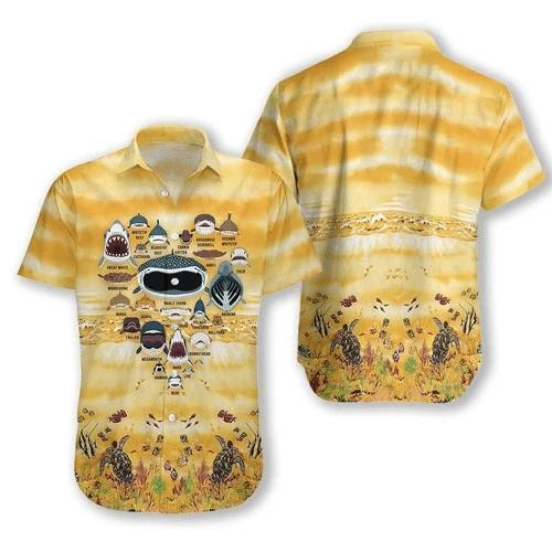 Love Shark Hawaiian Shirt   For Men & Women   Adult   HW6783