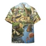 Zoo Animal Hawaiian Shirt   For Men & Women   Adult   HW6467