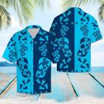Flipflops Blue Flower Hawaiian Shirt | For Men & Women | Adult | HW6485