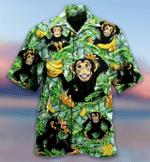 Monkey Loves Banana Hawaiian Shirt   For Men & Women   Adult   HW7152