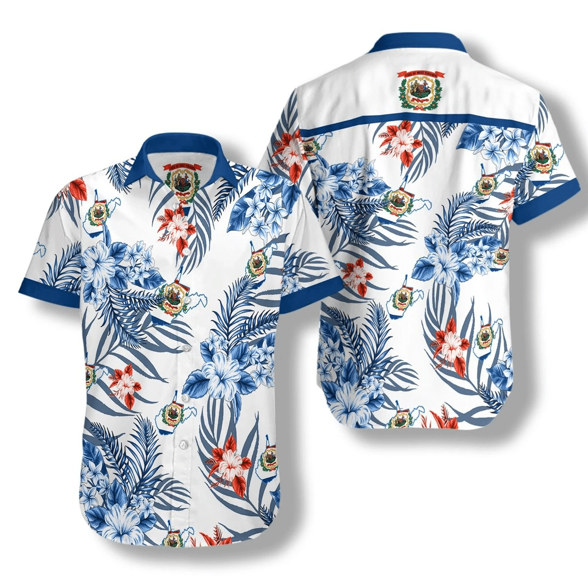 West Virginia Proud Hawaiian Shirt | For Men & Women | Adult | HW6966