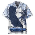 California Map Palm Tree Hawaiian Shirt | For Men & Women | Adult | HW7393