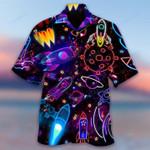 Shoot For The Stars Glowing Rocket Hawaiian Shirt   For Men & Women   Adult   HW6201