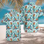 Watercolor Parrot & Palm Leaves Hawaiian Shirt   For Men & Women   Adult   HW7786