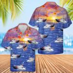 US Coast Guard Motor Life Boat Hawaiian Shirt   For Men & Women   Adult   HW6597