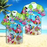 Pink Flamingo On Beach Summer Hawaiian Shirt   For Men & Women   Adult   HW4738