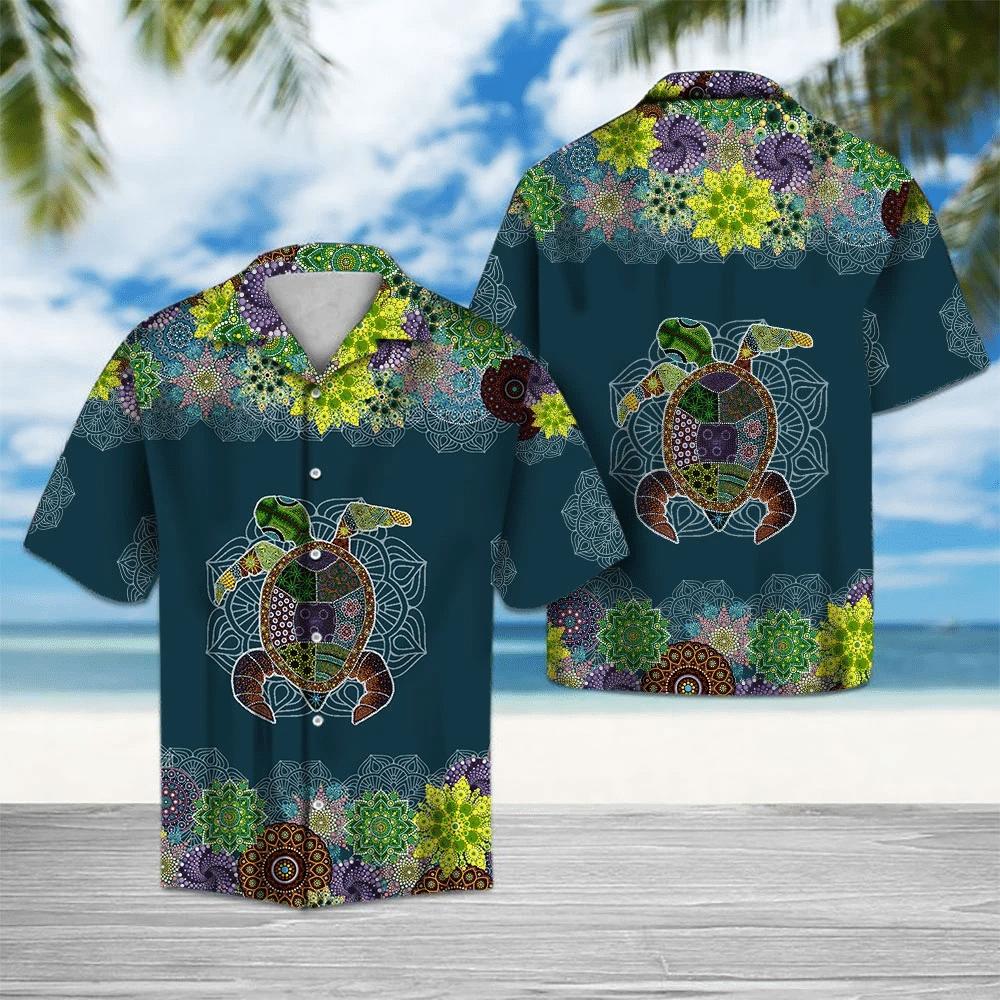 Turtle Mandala Hawaiian Shirt   For Men & Women   Adult   HW6421