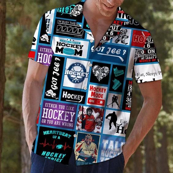 Hockey Hawaiian Shirt | For Men & Women | Adult | HW6266
