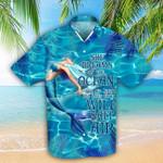 Mermaid She Dreams Of The Ocean Hawaiian Shirt   For Men & Women   Adult   HW6613